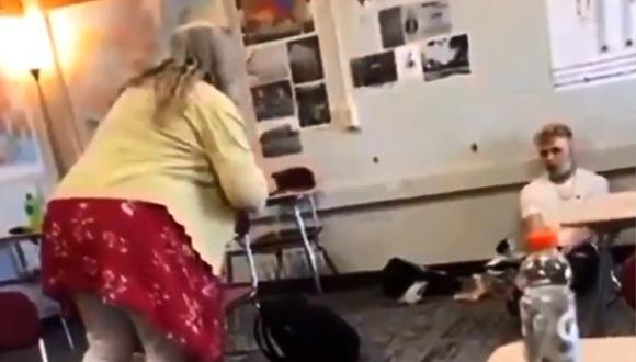 Maestra insulta a alumno por no usar cubrebocas y es suspendida. (Foto: @Jayne720 / Twitter)