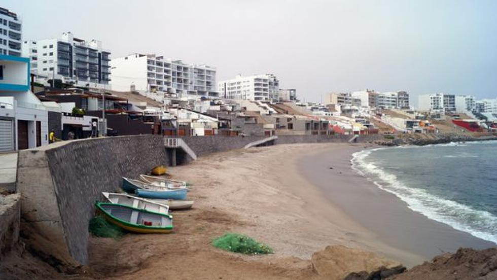Construyen muros de protección en playa Caballeros de Punta Hermosa. (Difusión)