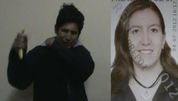 SECUESTRADOR Y VÍCTIMA. Marco Carrillo Zavala y una de las agraviadas, María Alfaro Muñoz. (Difusión)