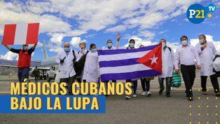 Militares y policías analizan el trabajo de los médicos cubanos en el Perú
