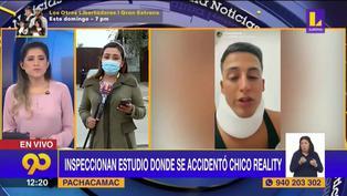 Sunafil inspecciona set de grabación de EEG tras accidente de Elías Montalvo