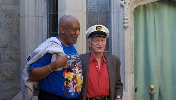 Bill Cosby y Hugh Hefner. (Gettyimages)