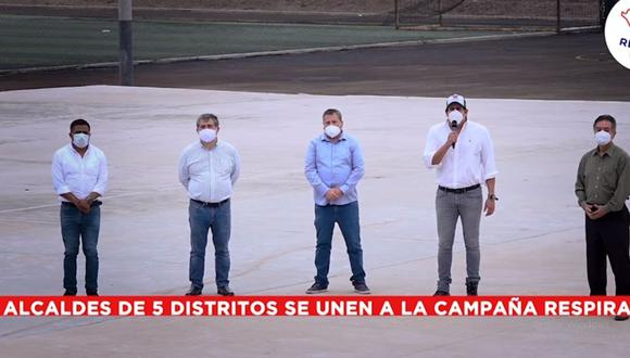 Los alcaldes de Pueblo Libre, Jesús María, El Rímac, Lince y Magdalena se unieron para construir planta de oxígeno en la Costa Verde. (Foto: Carlomagno Chacón/Facebook)