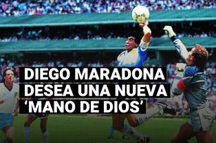 """Diego Maradona anhela otro gol con la mano, como ante Inglaterra: """"Con la derecha esta vez"""""""