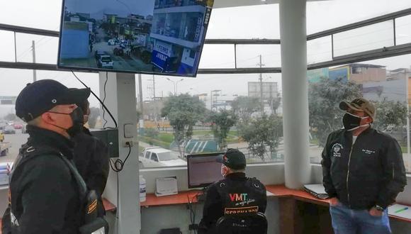 Las cámaras de videovigilancia fueron instaladas ante la incidencia de robos. Foto: Municipalidad de Villa María del Triunfo