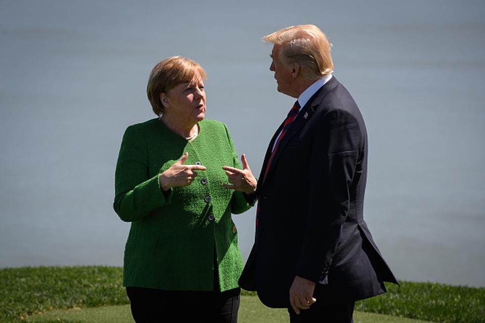 Angela Merkel y Donald Trump. (Getty)