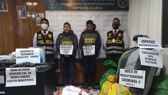 Puno: Dictan nueve meses de prisión preventiva contra Franklin Ericcson Cahuapaza Condori (22) y Luigi Ronaldo Choquehuanca Masco (22) investigados por crimen en agravio del comerciante Máximo Neyra Mitma (62).