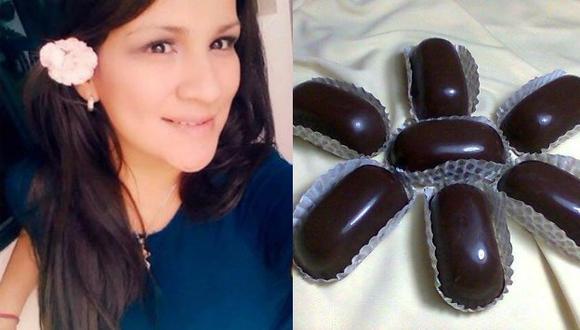 Karla Solf ofrece alfajores y chocotejas a través de Facebook.
