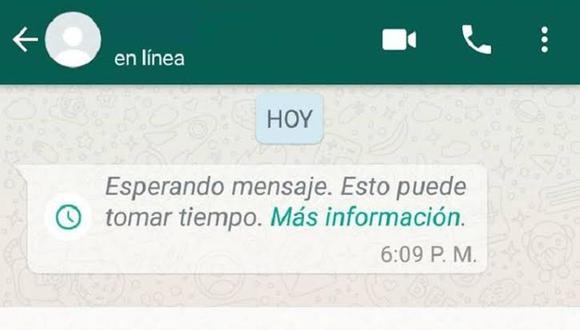 ¡No es un fallo de tu internet o de tu teléfono! Descubre por qué sucede esto en WhatsApp. (Foto: WhatsApp)