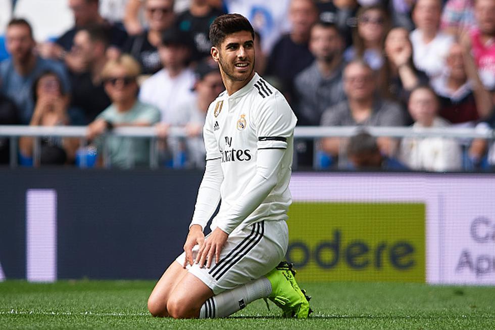 El gol anulado a Marco Asensio en la Liga Santander. (GETTY)