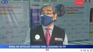 Minsa niega vacunación a Selección Peruana de Fútbol