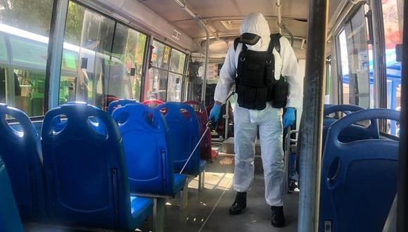 Arequipa: Exhortan a choferes a desinfectar sus vehículos o podrían ir hasta tres años a la cárcel.