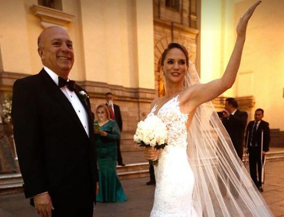 Rómulo León entregó en matrimonio a su engreída. (Geraldo Caso/Perú 21)
