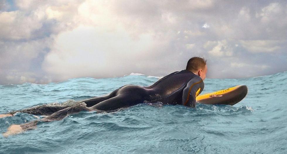 El surfista por poco tiene un mal día en el mar. Su video se volvió viral en Facebook. (Foto referencial: Pexels)