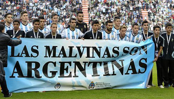 Brasil 2014: FIFA indignado con Argentina por pancarta sobre Malvinas. (AFP)