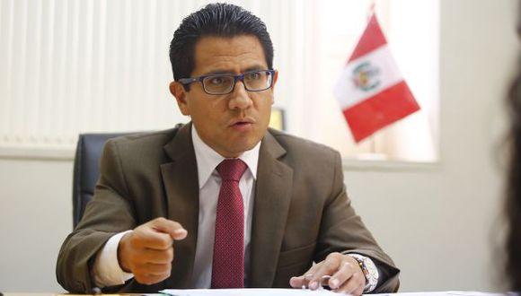El procurador anticorrupción Amado Enco se refirió al debate en el Congreso sobre la prohibición para candidatos. (Foto: Hugo Pérez / GEC)