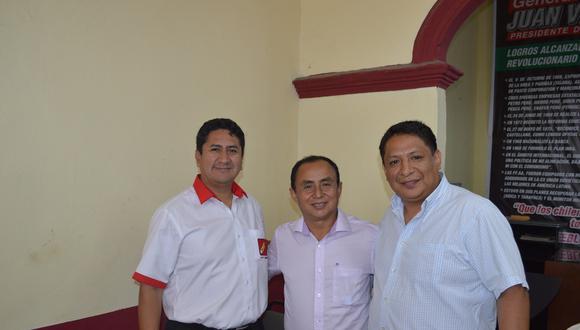 El condenado Vladimir Cerrón, Gregorio Santos y Richard Rojas García. (Facebook: Richard Rojas)