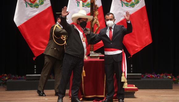 Pasado. Pedro Castillo e Iber Maraví formaron parte del radical Conare-Sute.  (Presidencia)