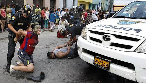 La Policía hará intervenciones en los barrios populares para combatir a la delincuencia. (Luis Gonzales)