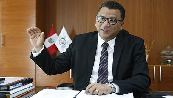 El actual ministro del sector, Juan Manuel Benites. (USI)