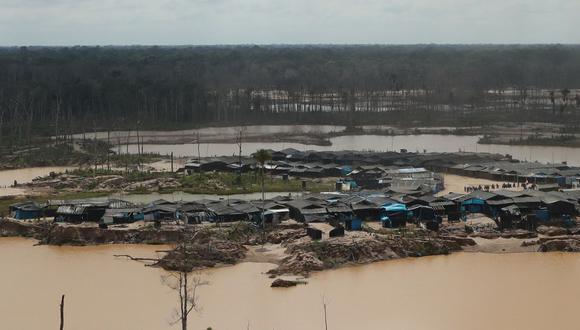 El Gobierno intervino hace unas semanas la zona de La Pampa, que ha sido devastada por la minería ilegal. (GEC)