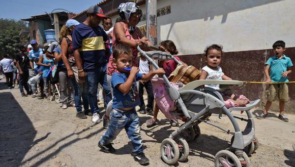 Cerca de 4,9 millones de personas de toda la región (incluido Brasil, Colombia, Ecuador, Guyana, Panamá, Perú y Trinidad y Tobago) requerirán de ayuda especial por la crisis en Venezuela. (Foto: AFP)