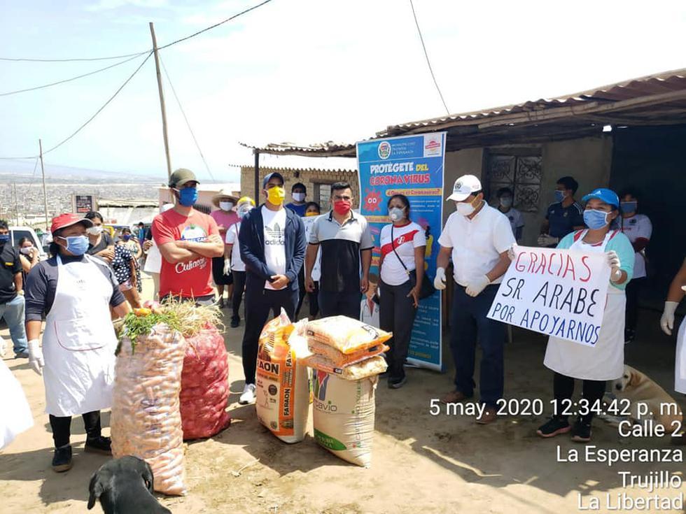 La Libertad: Empresario árabe abasteció con víveres a dos comedores populares. (Foto: Yaqook Mubarak)