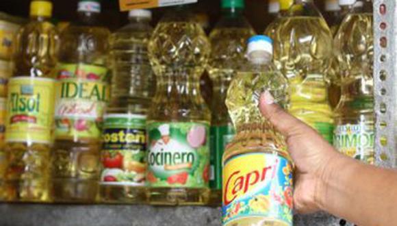 Aspec señaló que el aceite pasó de un promedio de S/ 5.5 a S/ 12 en algunas marcas. (Foto: GEC)