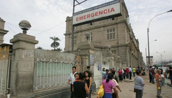 La víctima fue trasladada al Hospital Nacional Arzobispo Loayza. (Perú21)