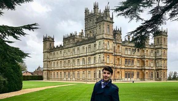 Bruno Pinasco visitó el castillo de Downtown Abbey y fue la envidia de sus seguidores (Instagram)