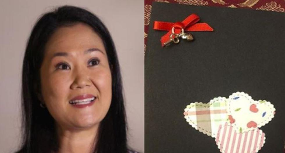 Keiko Fujimori elaboró tarjetas por el Día de la Madre que obsequió a sus congresistas. (Composición)