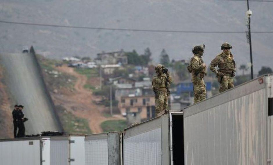 EE.UU. desplegará más de 5 mil soldados en su frontera con México. | Foto: AFP