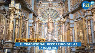 El tradicional recorrido de las siete iglesias