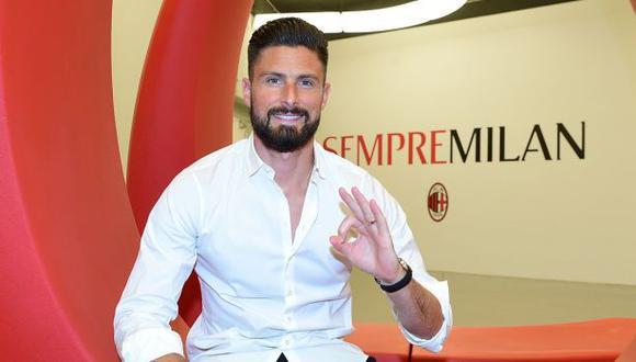 Olivier Giroud tendrá en AC Milan su primera experiencia en el fútbol italiano. (Foto: AC Milan)