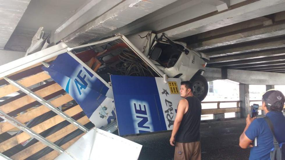 El accidente se produjo en la mañana del domingo. (Foto: Gustavo Muñoz)