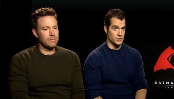 Batman v Superman: Ben Affleck y Henry Cavill responden a la crítica. (Captura)
