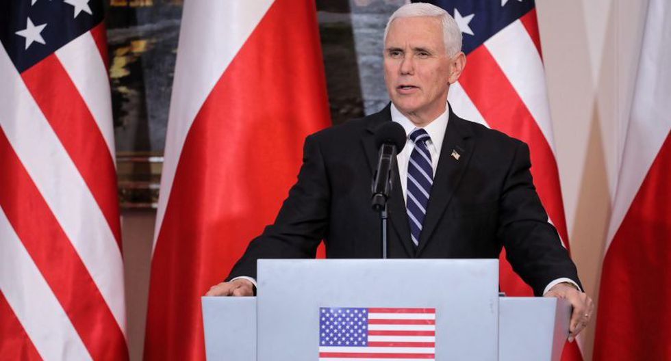 """Pence pidió a los aliados de EE.UU. que sigan su """"ejemplo"""" y abandonen el acuerdo nuclear con Irán alcanzado en 2015. (Foto: EFE)"""