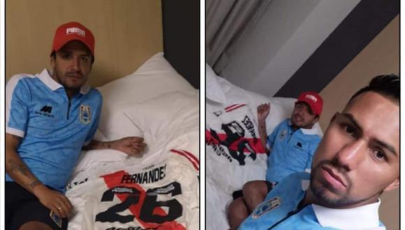 """Reimond Manco intercambia camisetas con jugador del River Plate: """"Nunca pensé perder por un resultado como el de hoy"""". (Instagram)"""
