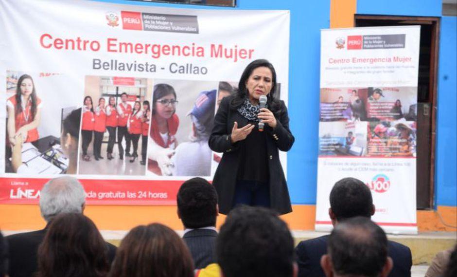 Gloria Montenegro defendió campaña dirigida a la lucha de la violencia contra la mujer. (Foto: Difusión)