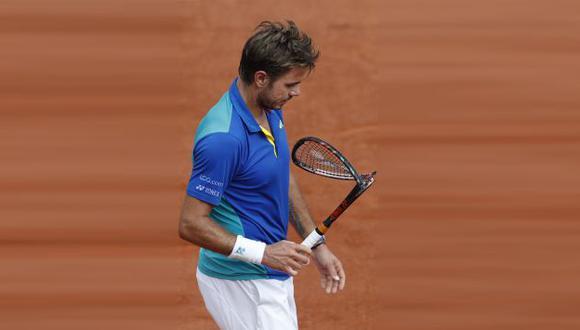 Wawrinka desató toda su rabia con su raqueta. (AP)
