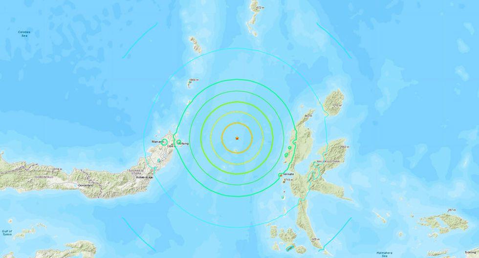 El epicentro es a 138km al noroeste de la isla de Ternate, en el mar de Molucas. (earthquake.usgs.gov)