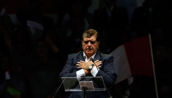 El ex presidente Alan García. (Mario Zapata)