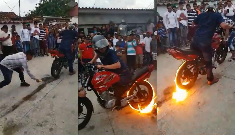 Desde Zacapa, Guatemala, la habilidad del motociclista Robin de León sorprende a millones en un video de Facebook que se volvió viral. (Foto: captura)