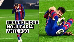 Gerard Piqué no jugaría la vuelta del Barcelona vs. PSG tras sufrir un esguince a la rodilla derecha