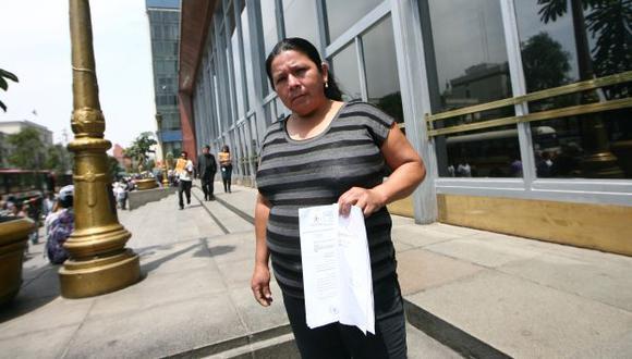 VÍCTIMA. Petronila Vargas cree que está siendo perseguida por presuntos allegados a Santos. (Mario Zapata)