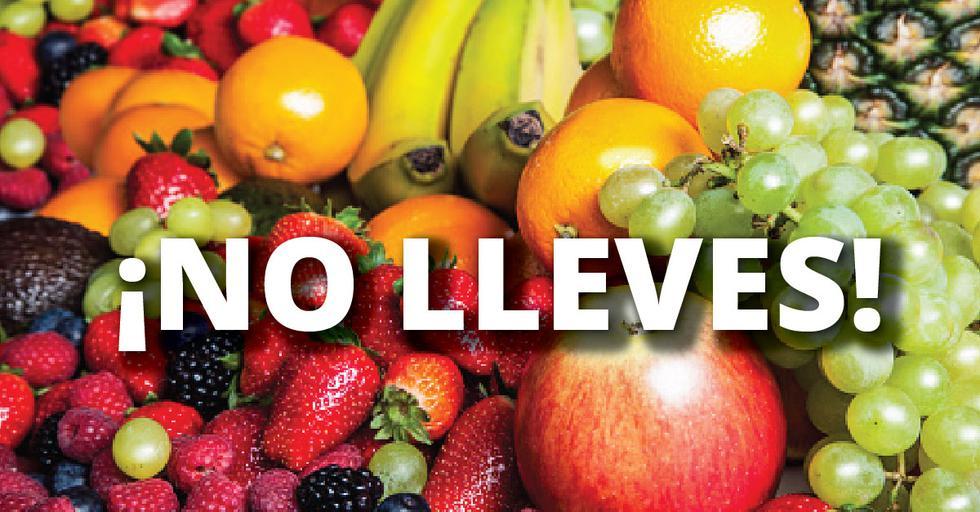 La población en general debe evitar llevar frutas cuando viajen al sur del país.
