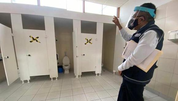 Minsa supervisa cumplimiento de protocolo de bioseguridad en los colegios que iniciaron clases semipresenciales. (Foto: Ministerio de Salud)