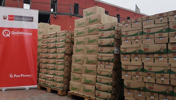 Qali Warma llevó 125 toneladas de alimentos para beneficencias en distintas regiones (Foto: Qali Warma)