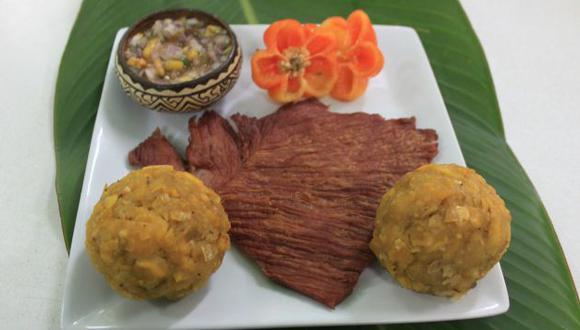 El tacacho con cecina es uno de los principales platos. (Gonzalo Pajares)