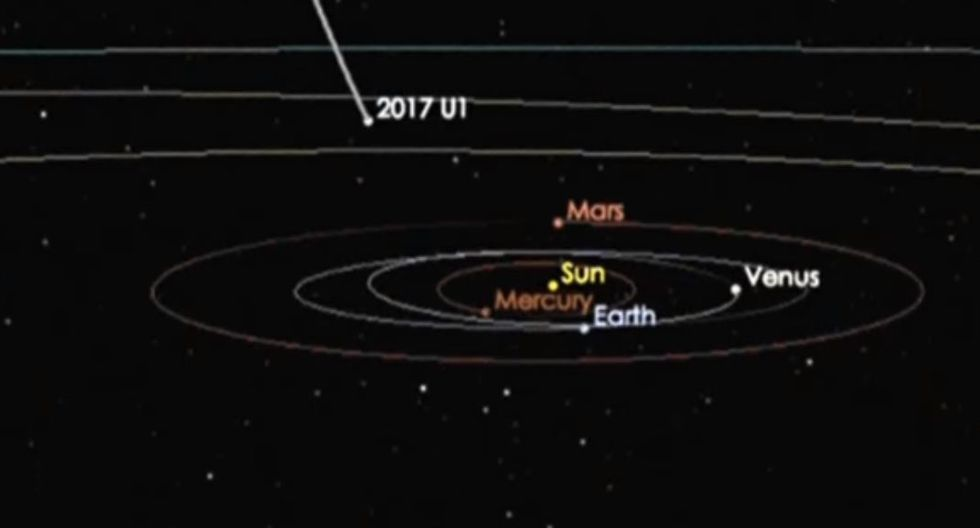 """'Oumuamua': El viajero espacial de """"una civilización alienígena"""" según científicos de Harvard. (YouTube/Euronews)"""
